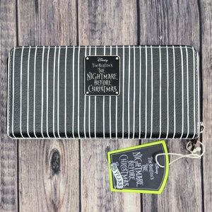 Loungefly Disney Nightmare Before Striped Wallet